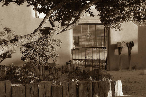 Photograph - Old Town Albuquerque Pueblo In Sepia by Gregory Ballos