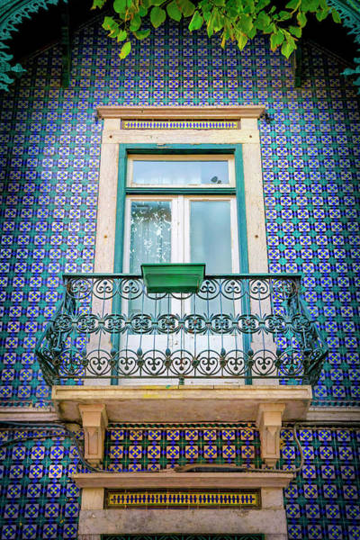 Wall Art - Photograph - Old Town Balcony In Blue Lisbon Portugal  by Carol Japp