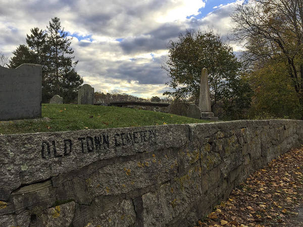 Photograph - Old Town Cemetery by Frank Winters