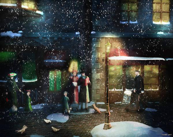 Digital Art - Old Town Christmas Eve by Ken Morris
