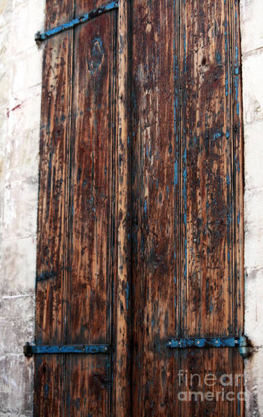 Photograph - Old Town Door by John Rizzuto