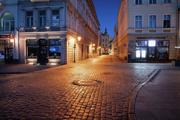 Tenement Photograph - Old Town In Bydgoszcz At Night by Artur Bogacki