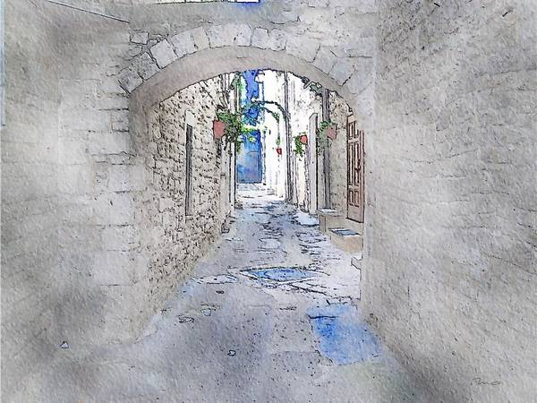 Painting - Old Town by Mark Taylor