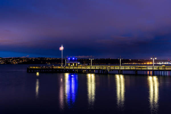Photograph - Old Town Pier During The Blue Hour by Rob Green