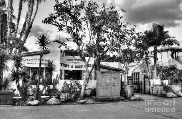 Photograph - Old Town San Diego Bw by Mel Steinhauer