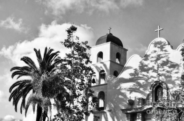 Photograph - Old Town San Diego Shadows 3 Bw by Mel Steinhauer