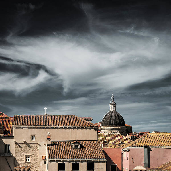Dubrovnik Photograph - Old Town Skyline by Dave Bowman