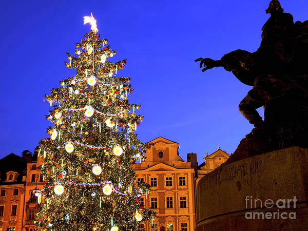 Photograph - Old Town Square Christmas Tree Prague by John Rizzuto