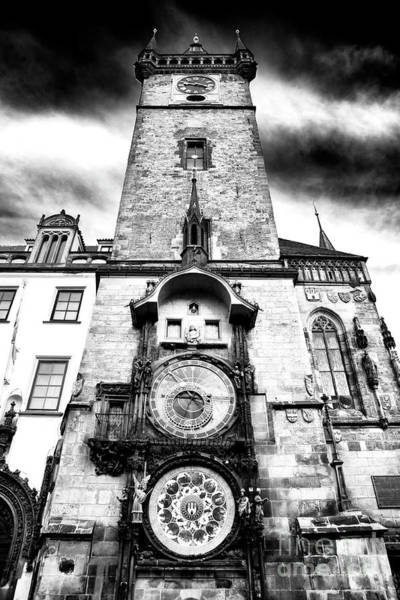 Wall Art - Photograph - Prague Old Town Square Clock Tower by John Rizzuto
