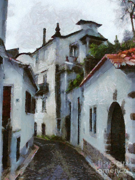 Painting - Old Town Street by Dimitar Hristov