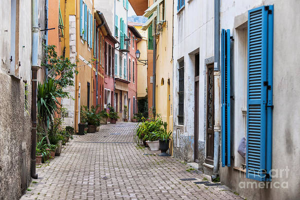 Wall Art - Photograph - Old Town Street In Villefranche-sur-mer by Elena Elisseeva