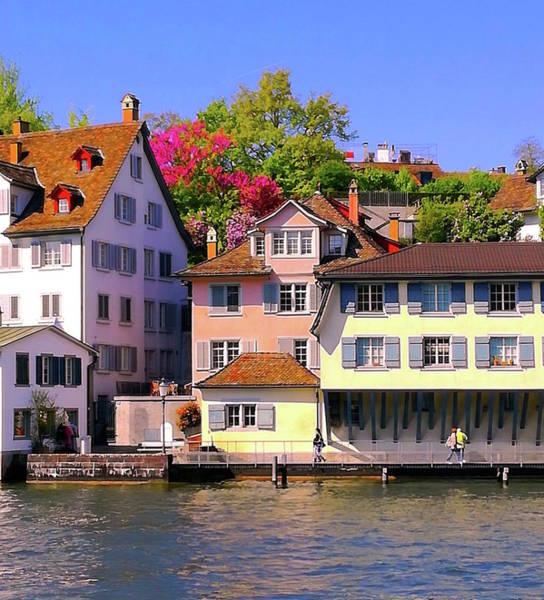 Photograph - Old Town Zurich, Switzerland by Monique Wegmueller