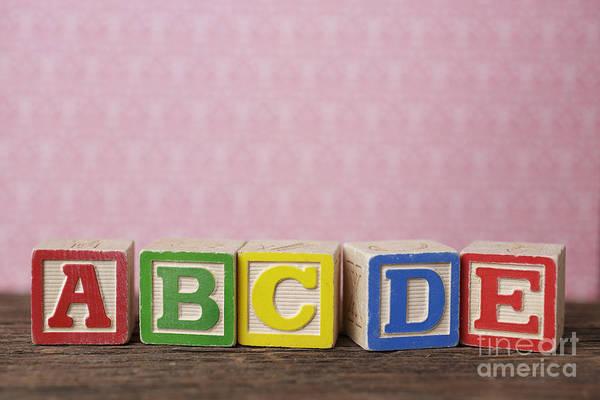 Wall Art - Photograph - Old Toy Alphabet Blocks by Edward Fielding