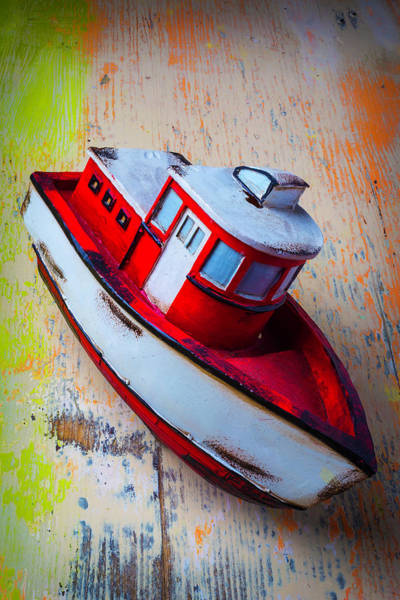 Tug Wall Art - Photograph - Old Toy Boat by Garry Gay