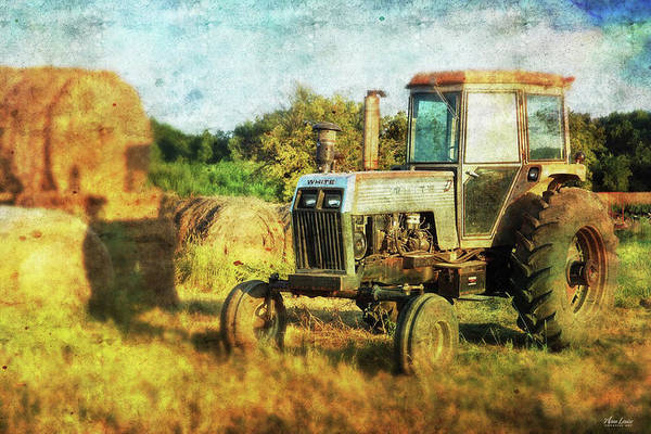 Photograph - Old Tractor And Hay Rolls by Anna Louise