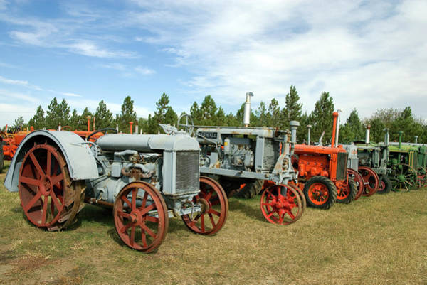 Photograph - Old Tractors Montana by Carol Highsmith