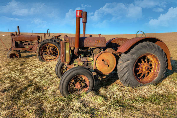 Wall Art - Photograph - Old Tractors Ready To Work by Dan Carmichael
