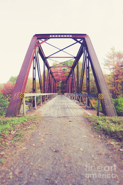 Wall Art - Photograph - Old Train Bridge Newport New Hampshire by Edward Fielding
