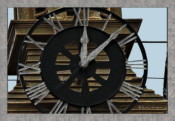 Wall Art - Digital Art - Old Train Depot Clock #3 by Kae Cheatham