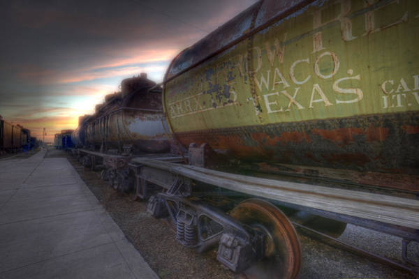 Tapestry - Textile - Old Train - Galveston, Tx 2 by Kathy Adams Clark
