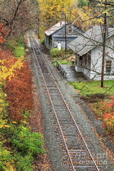 Photograph - Old Train Station Norwich Vermont by Edward Fielding