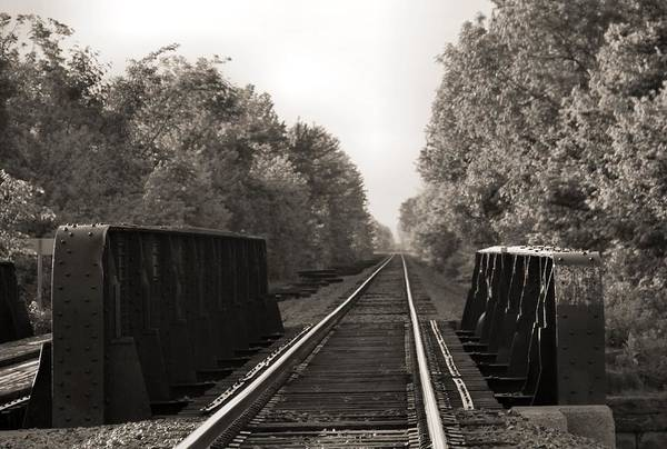 Photograph - Old Train Tracks On Bridge by Dan Sproul