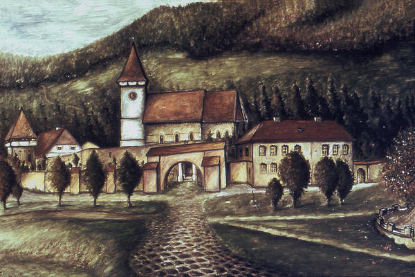 Painting - Old Transylvania Village - Oil On Canvas by Peter Potter