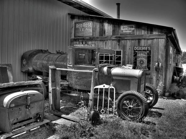 Photograph - Old Truck 2 Bandw by Lawrence Christopher