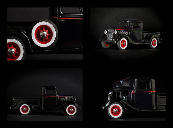 Photograph - Old Truck Collage by Rudy Umans