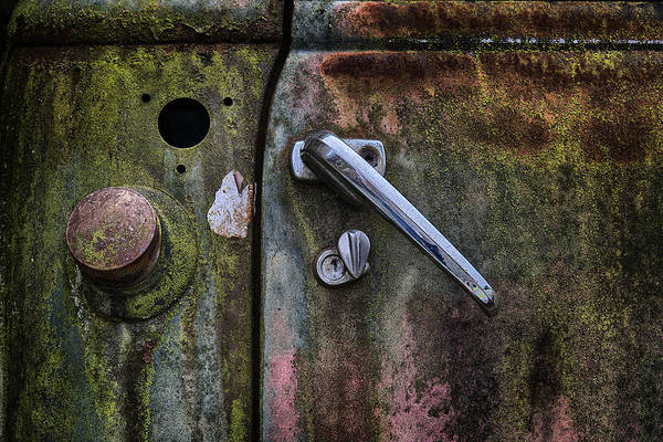 Photograph - Old Truck Door by Dick Pratt