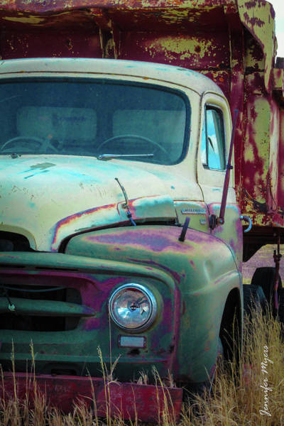 Dump Truck Photograph - Old Truck by Jennifer Myers