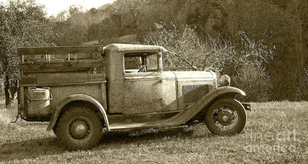 Photograph - Old Truck On The Mountain by Pete Hellmann