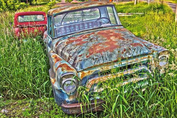 Photograph - 001 - Old Trucks by David Ralph Johnson