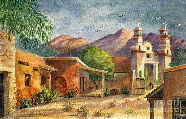 Wall Art - Painting - Old Tucson by Marilyn Smith