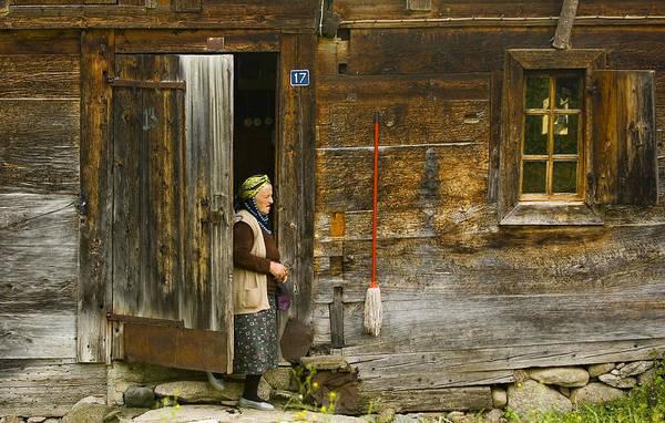 Dour Photograph - Old Turkish Woman by Kobby Dagan
