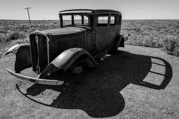 Photograph - Old Vehicle Vi Bw by David Gordon