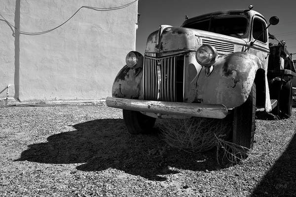 Photograph - Old Vehicle Vii  Bw - Ford Truck by David Gordon