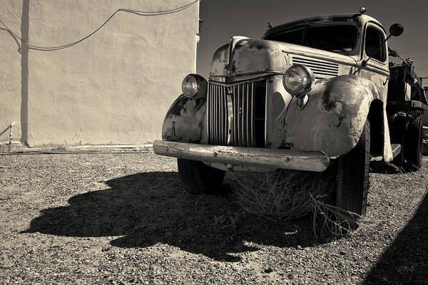 Photograph - Old Vehicle Vii  Bw - Ford Truck Toned by David Gordon