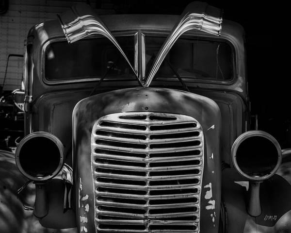 Photograph - Old Vehicle X Bw by David Gordon