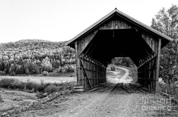 Photograph - Old Vermont Covered Bridge 5 by Edward Fielding