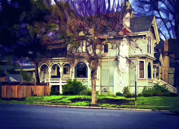 Victorian House Digital Art - Old Victorian by Terry Davis