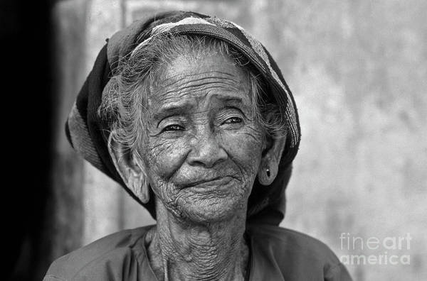 Photograph - Old Vietnamese Woman by Silva Wischeropp