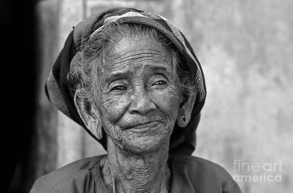 Photograph - Old Vietnamese Woman by Silva Wischeropp