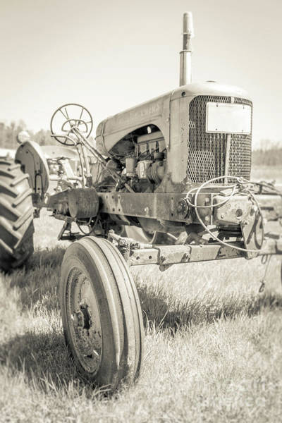 Family Farm Wall Art - Photograph - Old Vintage Farm Tractor Durham New Hampshire by Edward Fielding