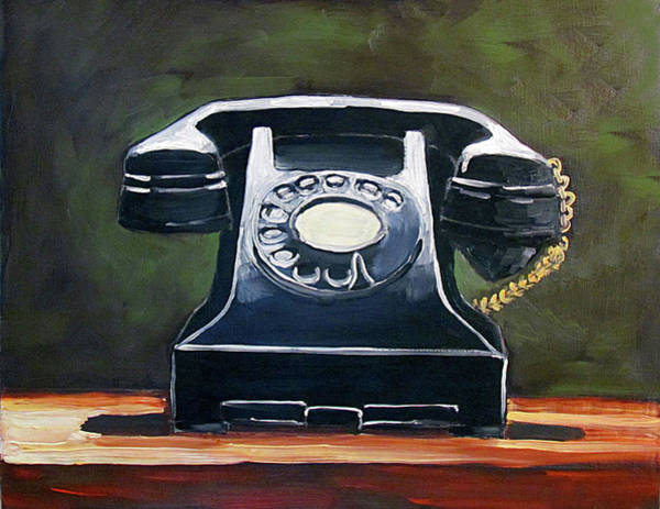 Dial Painting - Old Vintage Phone by Kevin Hughes