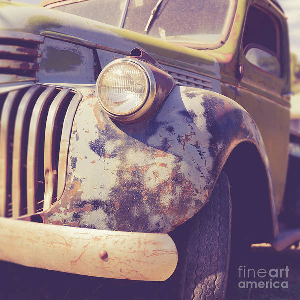 Wall Art - Photograph - Old Vintage Pickup Truck Utah Square by Edward Fielding
