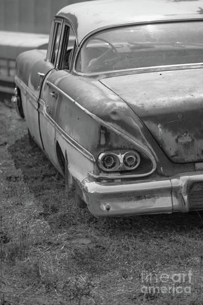 Wall Art - Photograph - Old Vintage Sedan Bw Utah by Edward Fielding