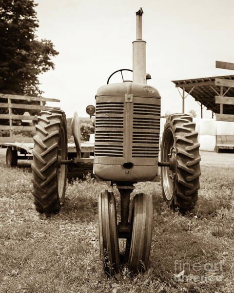 Photograph - Old Vintage Tractor Cornish New Hampshire by Edward Fielding