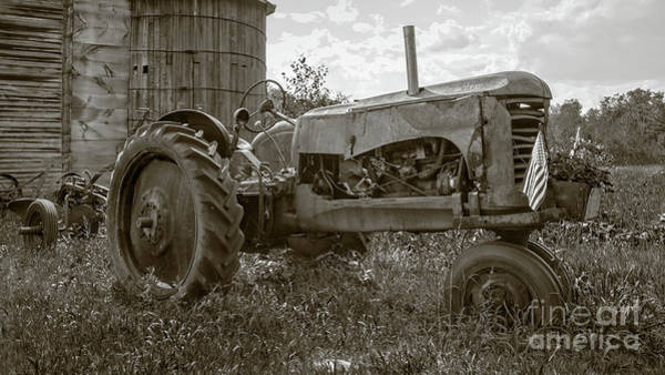 Photograph - Old Vintage Tractor Hopkinton New Hampshire by Edward Fielding