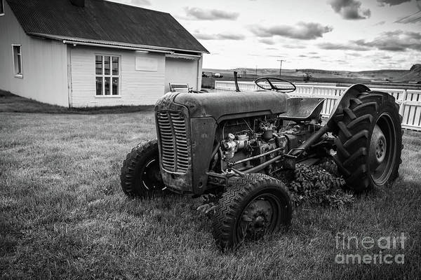 Photograph - Old Vintage Tractor Iceland by Edward Fielding